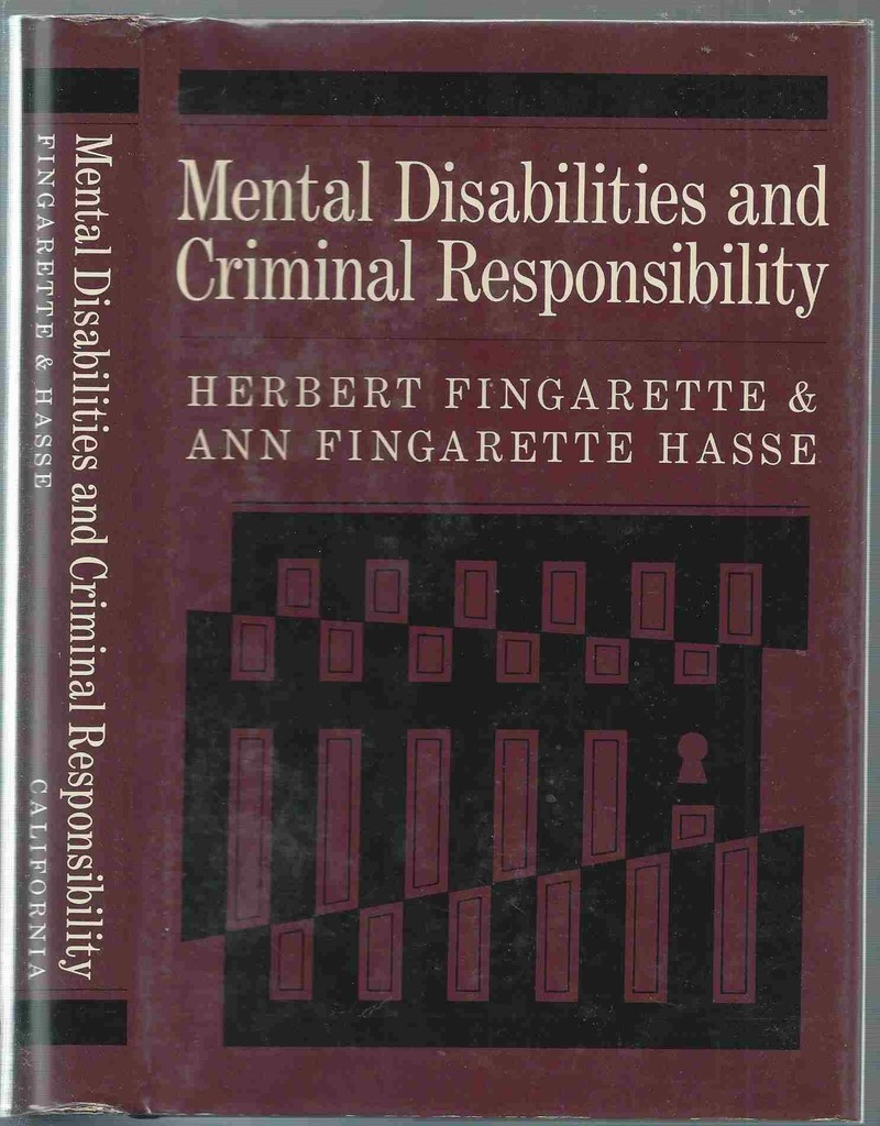 Image for Mental Disabilities and Criminal Responsibility