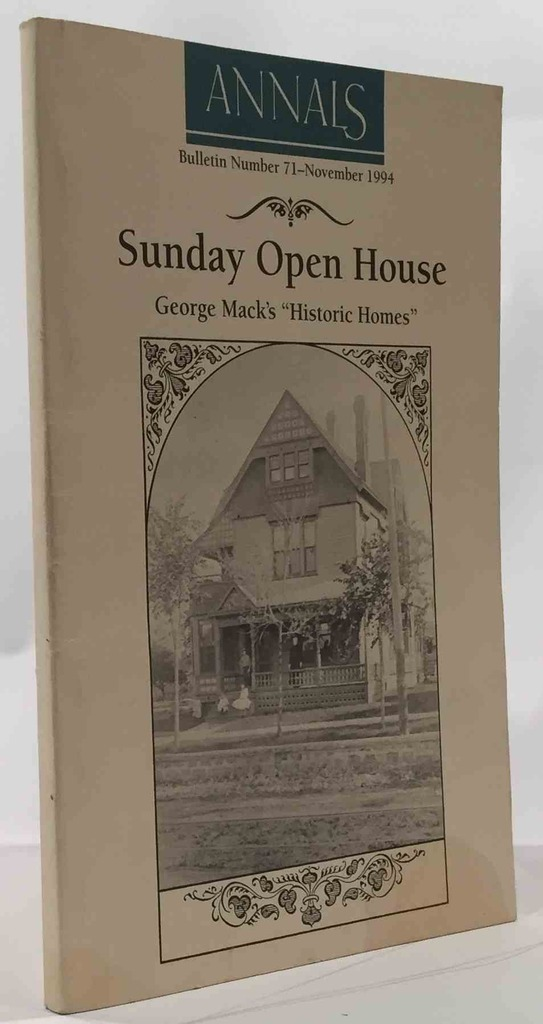 "Image for Sunday Open House: George Mack's ""Historic Homes"" Shawnee County Historical Society Bulletin No. 71"