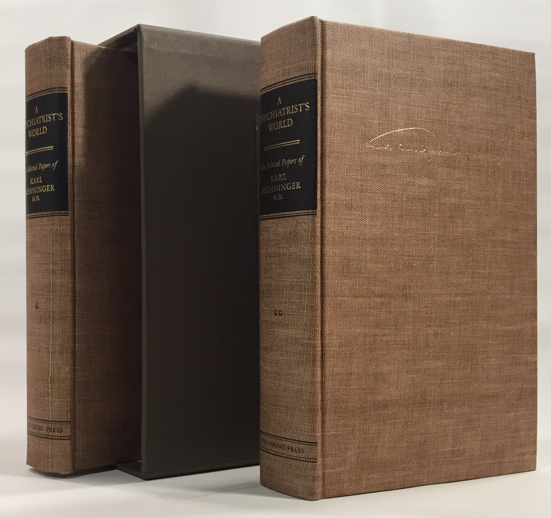 A Psychiatrist's World. The Selected Papers of Karl Menninger, M. D. (2 volumes)
