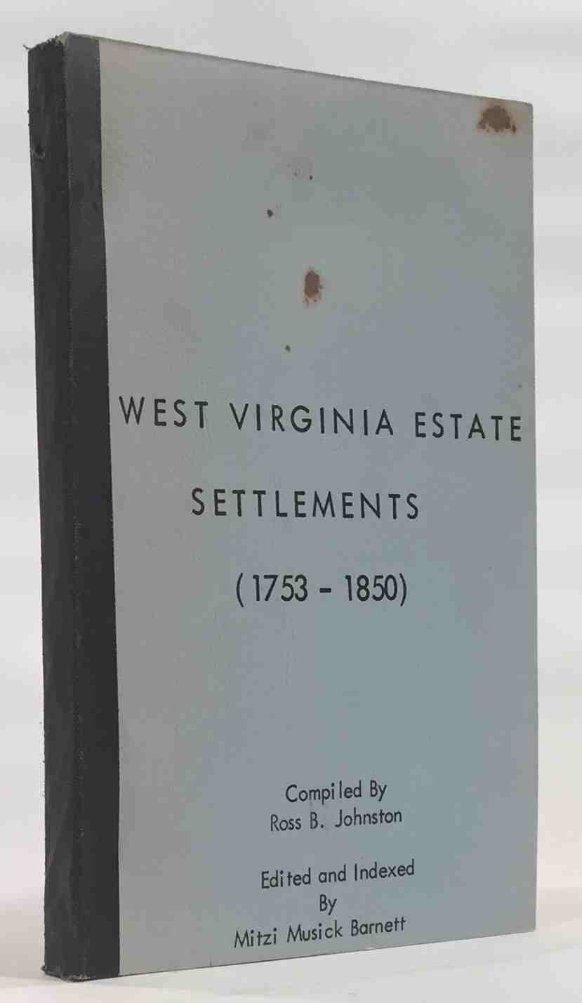 Image for West Virginia Estate Settlements, 1753-1850