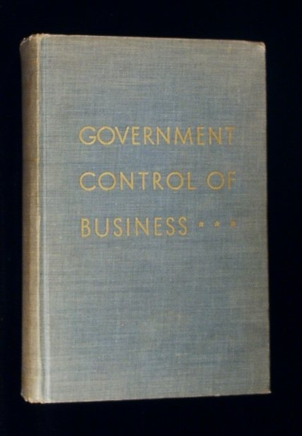 Image for Government Control of Business