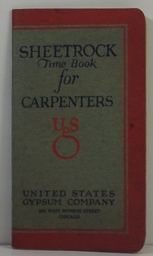 Image for Sheetrock Time Book for Carpenters
