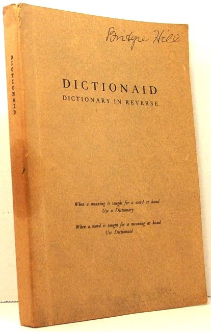 Image for Dictionaid: Dictionary in Reverse