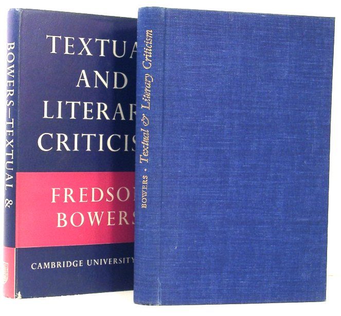 Image for Textual & Literary Criticism. the Sandars Lectures in Bibliography 1957-58