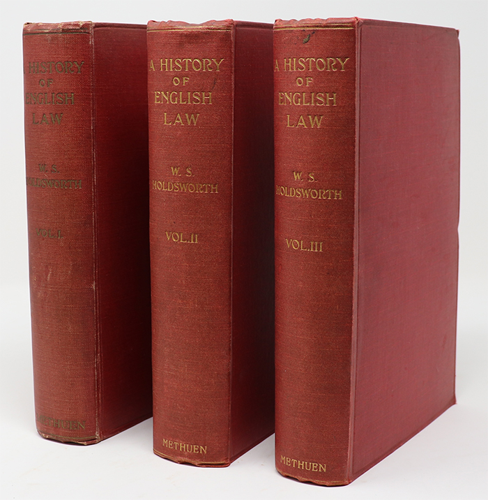 Image for A History of English Law Volumes 1 - 3