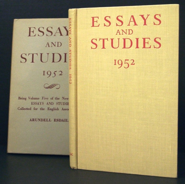 Image for Esays and Studies 1952. Being Volume Five of the New Series of Essays and Studies Collected for the English Association