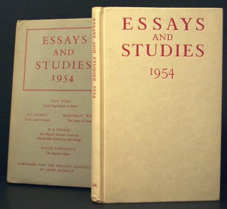 Image for Essays and Studies 1954. Being Volume Seven of the New Series of Essays and Studies Collected for the English Association