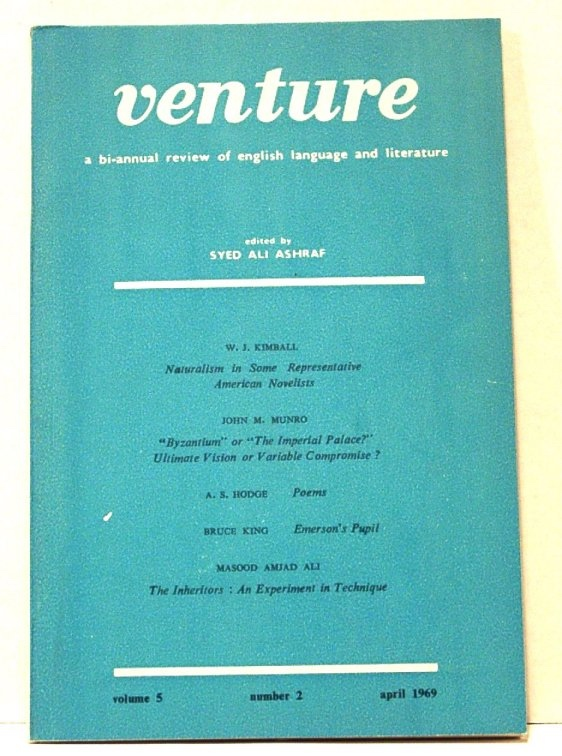 Image for Venture. a Bi-Annual Review of English Language and Literature. Volume 5, Number 2, April 1969