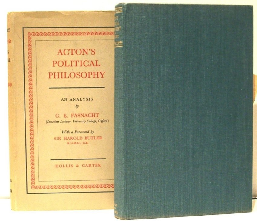Image for Acton's Political Philosophy. an Analysis