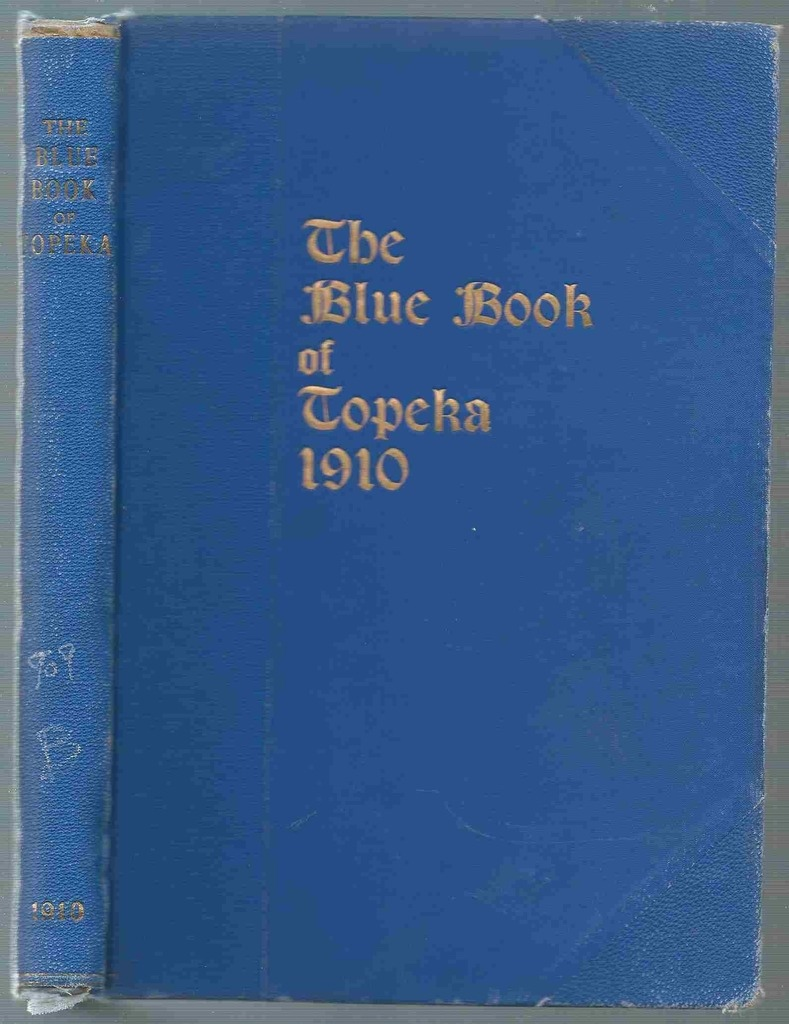 Image for The Blue Book of Topeka, 1910